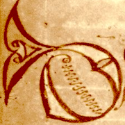 Initial D from Cathach of St Columba