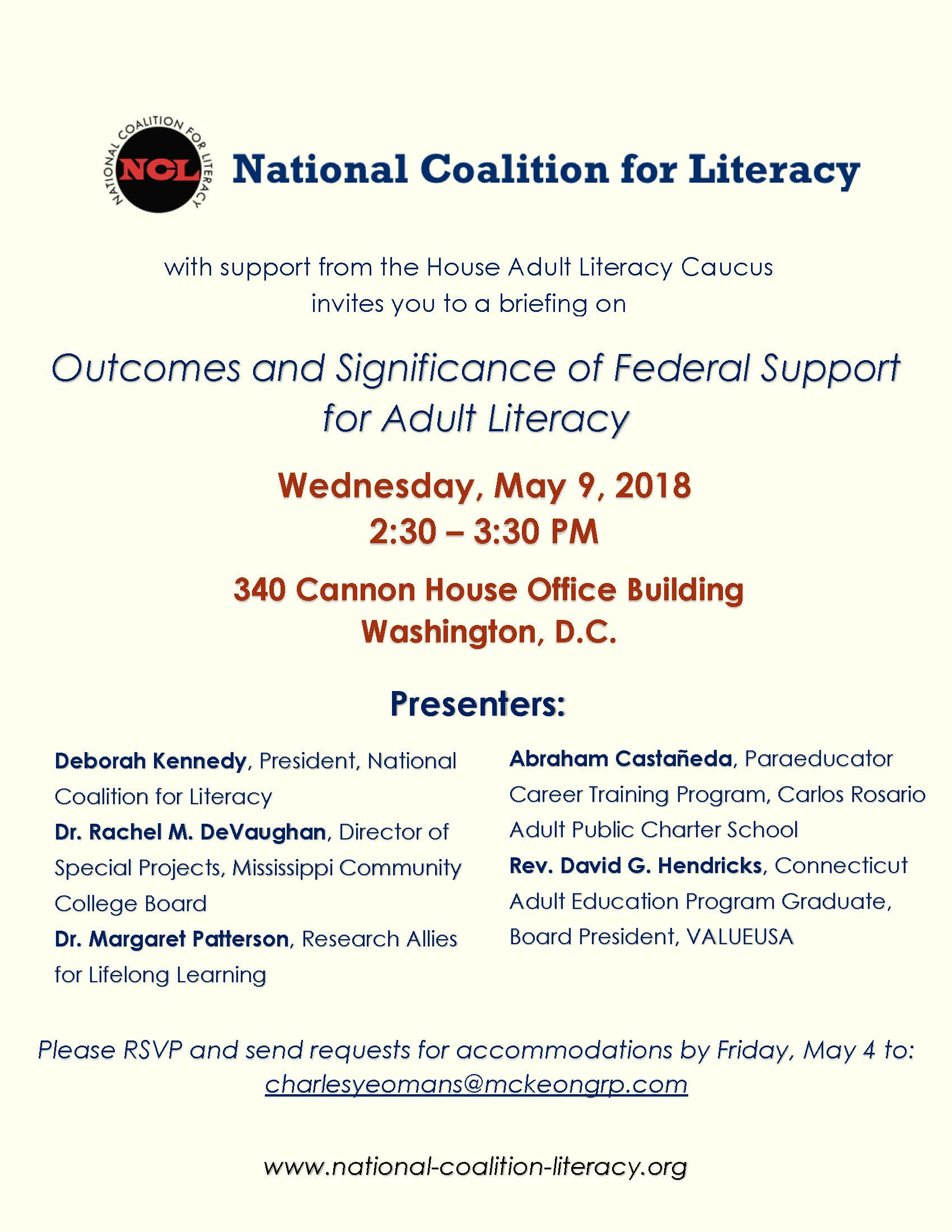 National Coalition for Literacy Invitation-1
